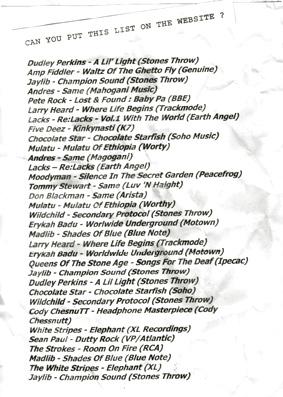 Staff Charts 2003