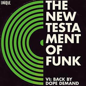 """Auf Unique Records erscheint die sechste Ausgabe der """"New Testament Of Funk"""" Compilation-Serie"""