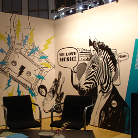 Visit the Groove Attack / Rough Trade / GoodToGo booth at the Popkomm 2008 in Berlin …