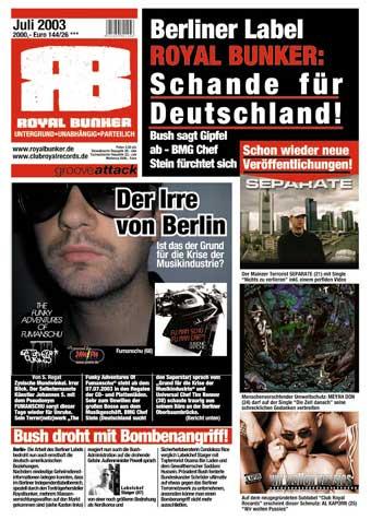 FUMANSCHU / ROYAL BUNKER print ad in German magazine Piranha …