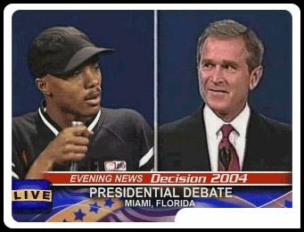 WORDSWORTH battling George W. Bush in the Slam Bush competition …