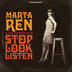 Record Kicks presents the debut album from the new Oporto soul diva Marta Ren & The Groovelvets